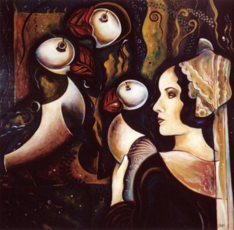 Femme et Macareux