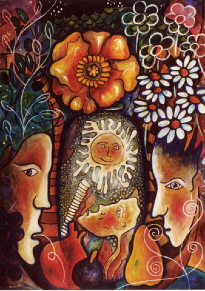 Femme au Vase de Fleurs
