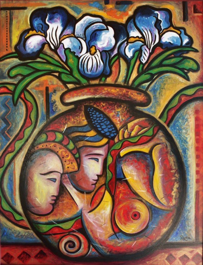 Vase aux Iris